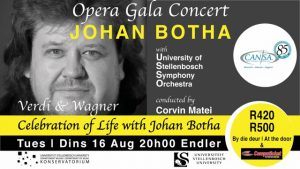 Opera Gala Concert With Johan Bother 16 August