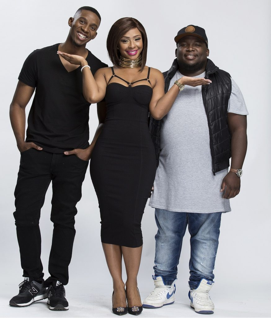 From left to right: Club 808's Lawrence Maleka, Boity Thulo and DJ Capital.